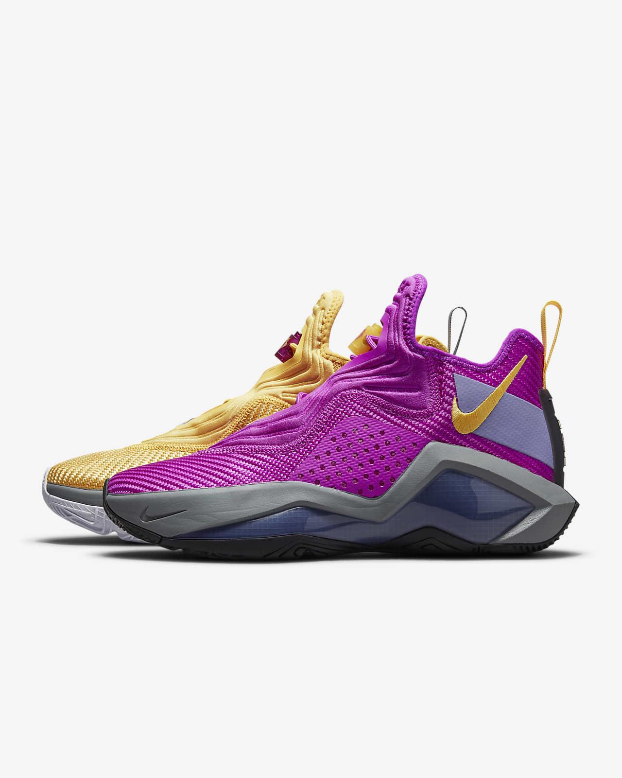 Nike LeBron Soldier 14 'Vivid Purple / Solar Flare' 9.97 Free Shipping