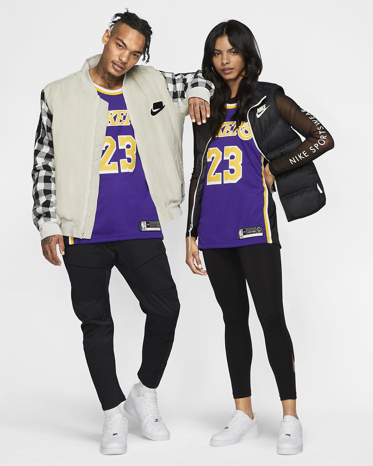Maillot d'équipe Nike NBA Swingman LeBron James Lakers Statement Edition