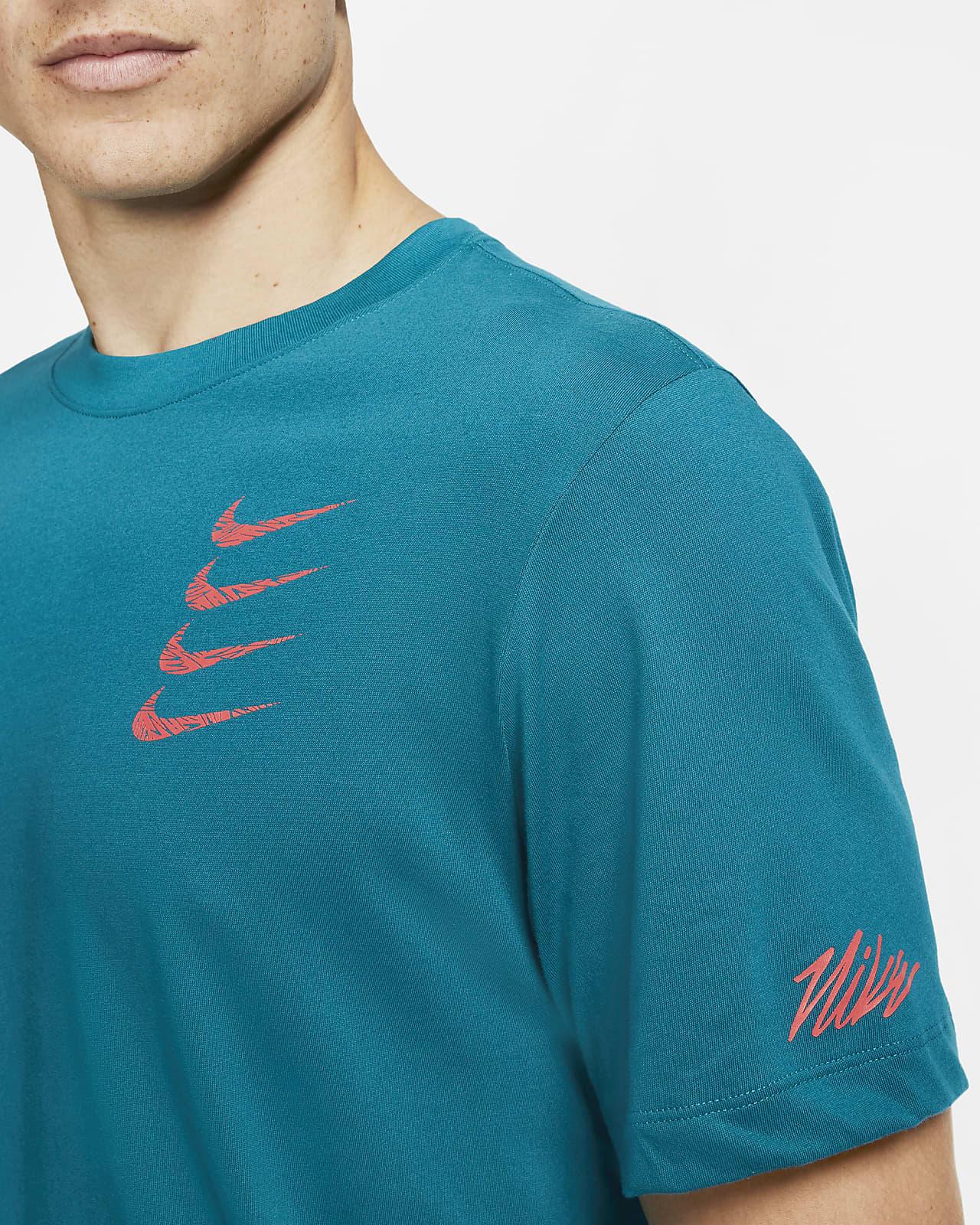 Tee shirt de training à motifs Nike Dri FIT pour Homme
