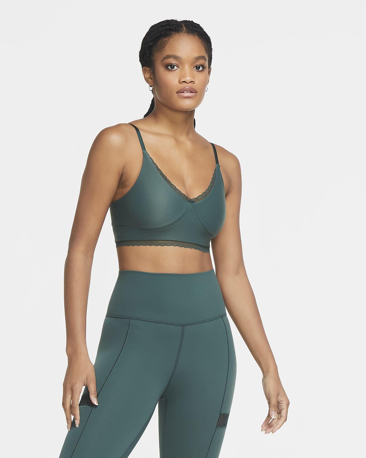 Sujetador deportivo con almohadillas de sujeción ligera para mujer Nike Indy Luxe