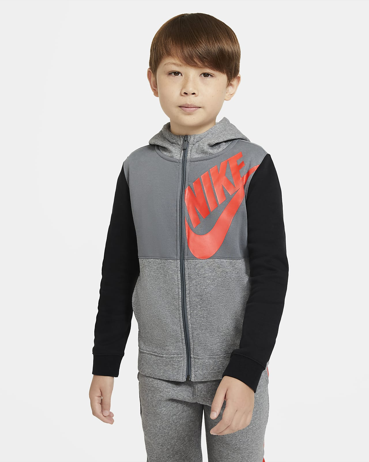 Nike Sportswear Big Kids' (Boys') Full-Zip Hoodie
