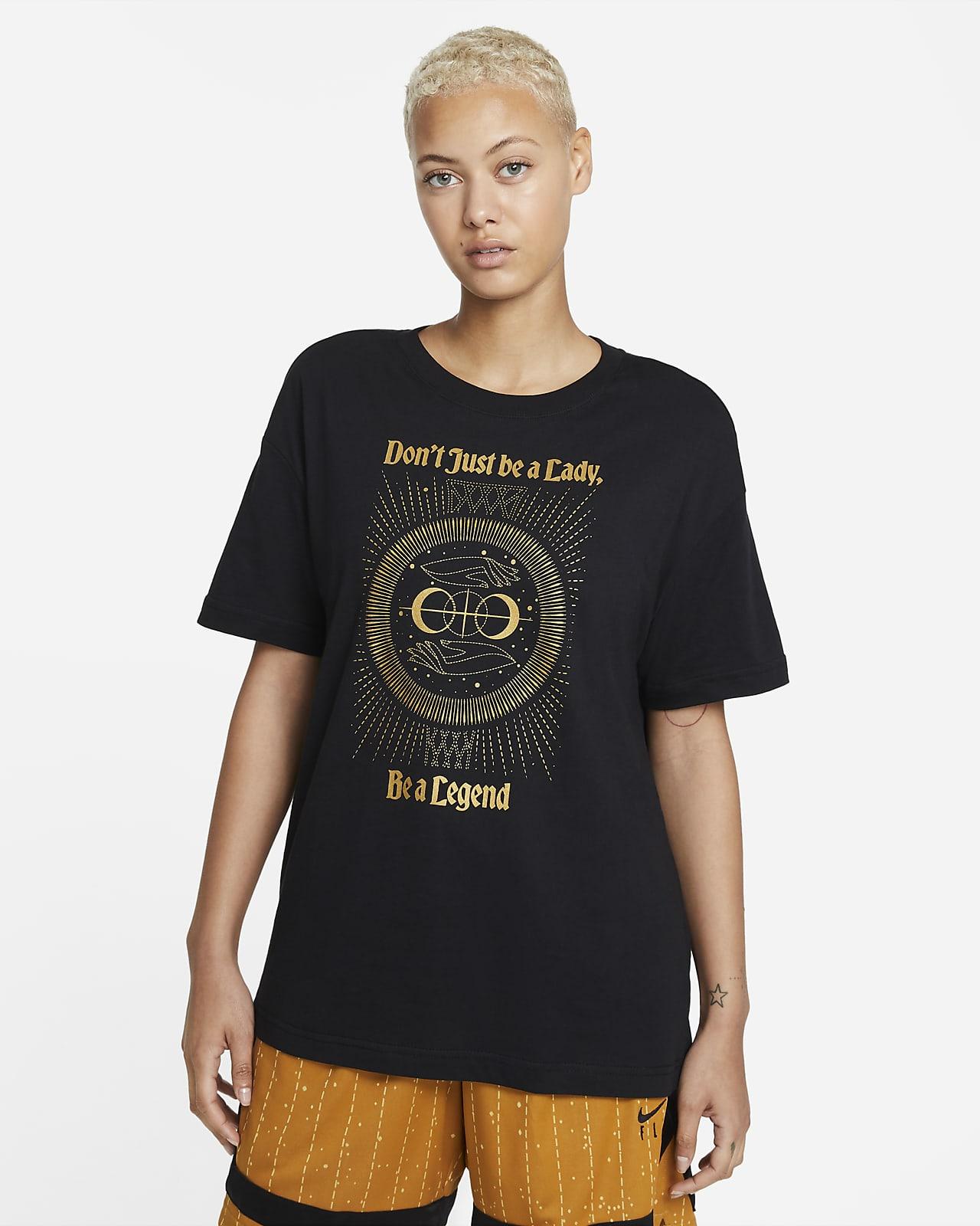 Damski T-shirt do koszykówki o kroju typu boyfriend