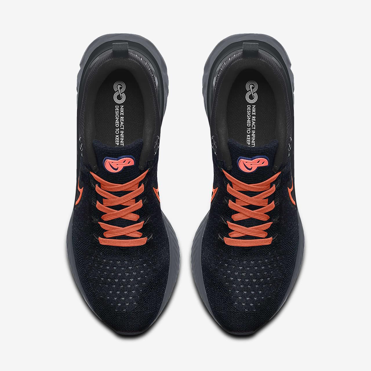 รองเท้าวิ่งออกแบบเอง Nike React Infinity Run Flyknit 2 By You