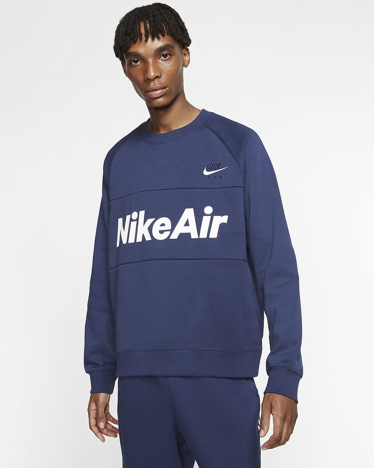 Camisola de lã cardada Nike Air para homem