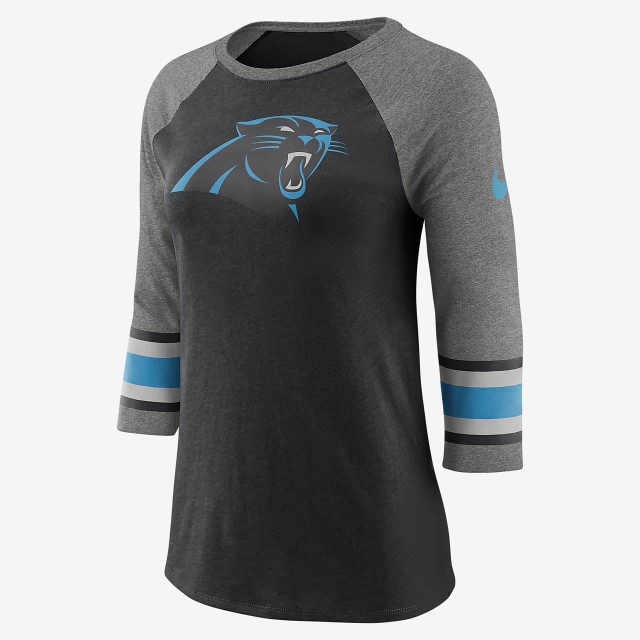 Женская футболка с рукавом 3/4 Nike Tri-Blend Raglan (NFL Panthers)
