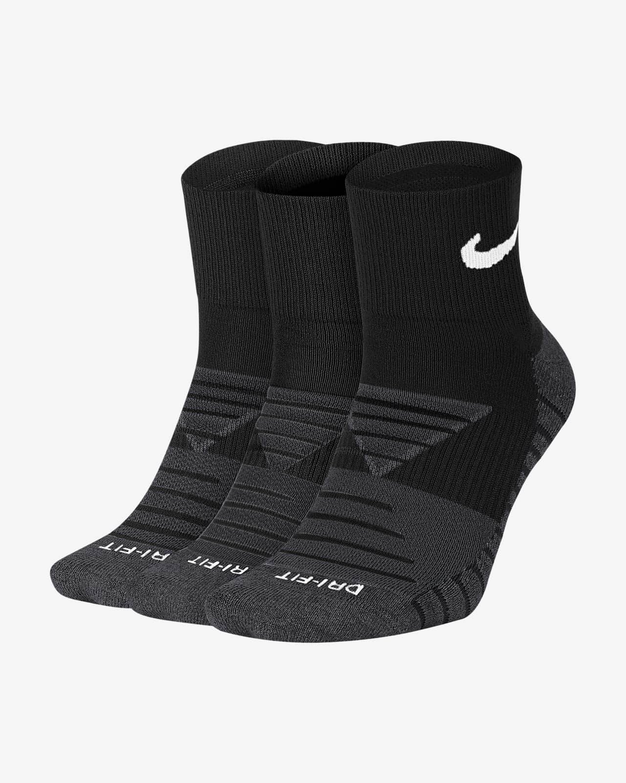Nike Everyday Max Cushioned Calcetines de entrenamiento hasta el tobillo (3 pares)