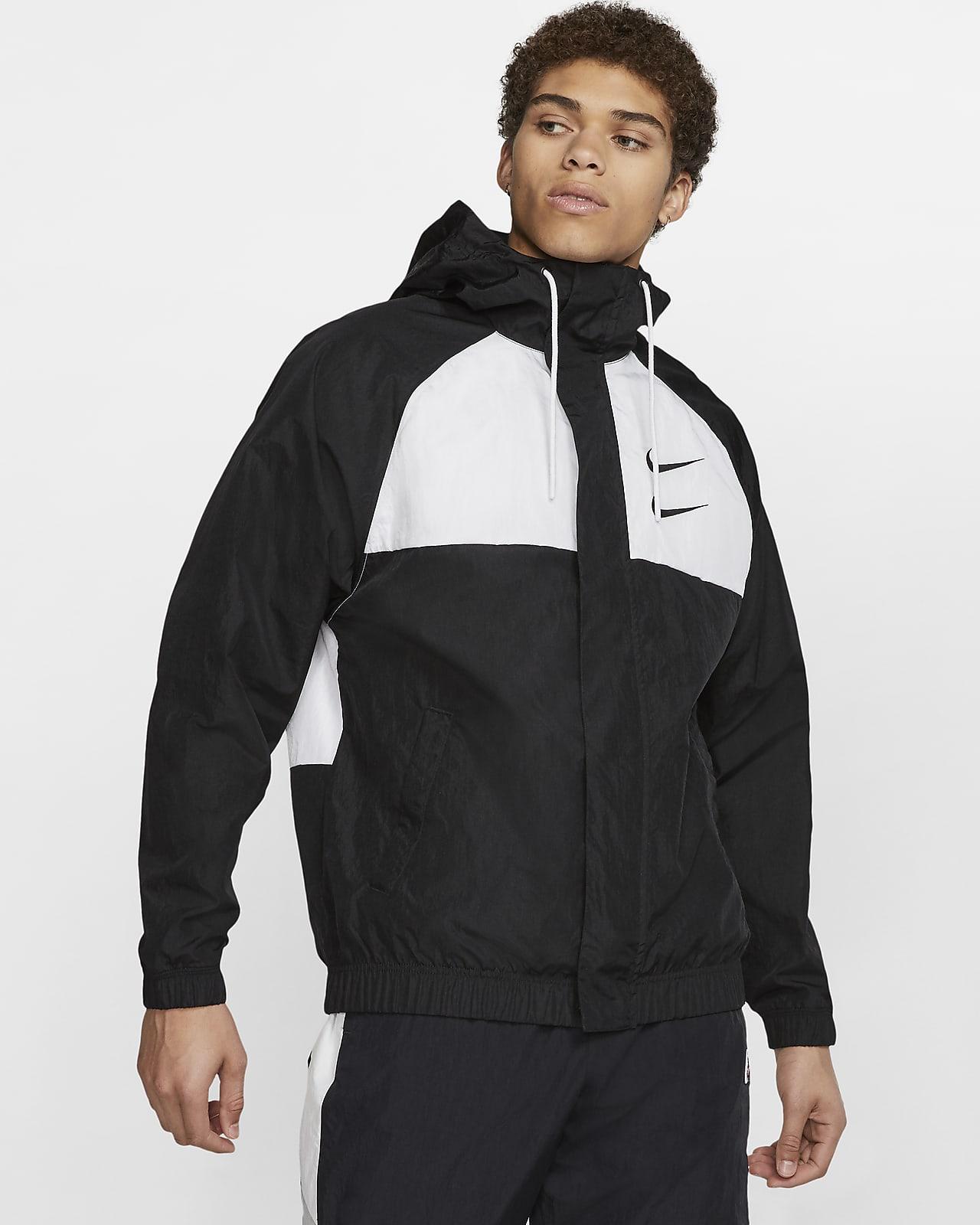 Vagabundo Pekkadillo ballena  Nike Sportswear Swoosh Chaqueta con capucha de tejido Woven - Hombre. Nike  ES