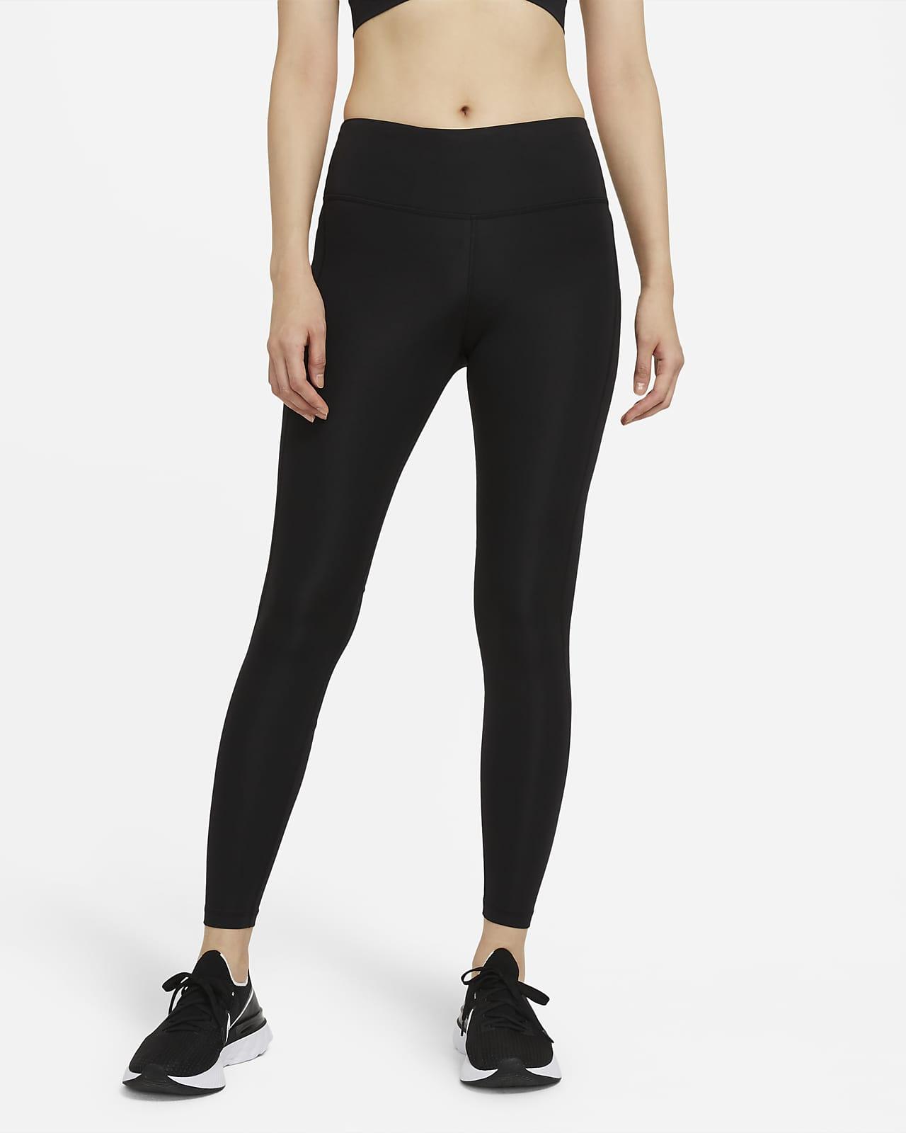 เลกกิ้งวิ่งเอวปานกลางผู้หญิง Nike Epic Fast