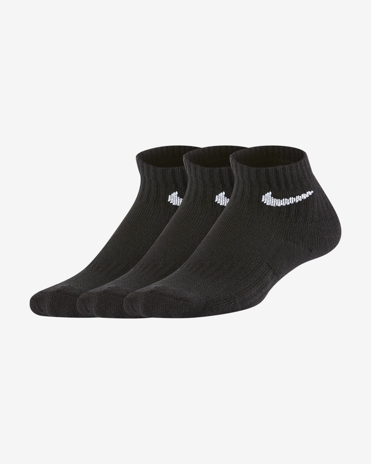 Nike Everyday Younger Kids' Cushioned Ankle Socks (3 Pairs)