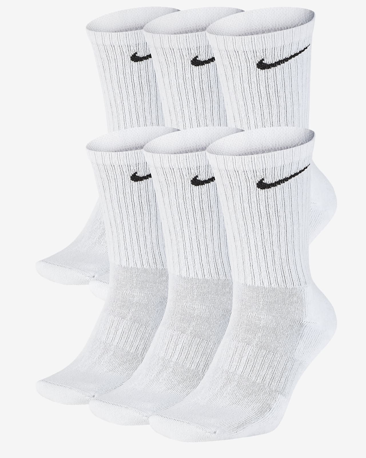 Chaussettes de training mi-mollet Nike Everyday Cushioned (6 paires)
