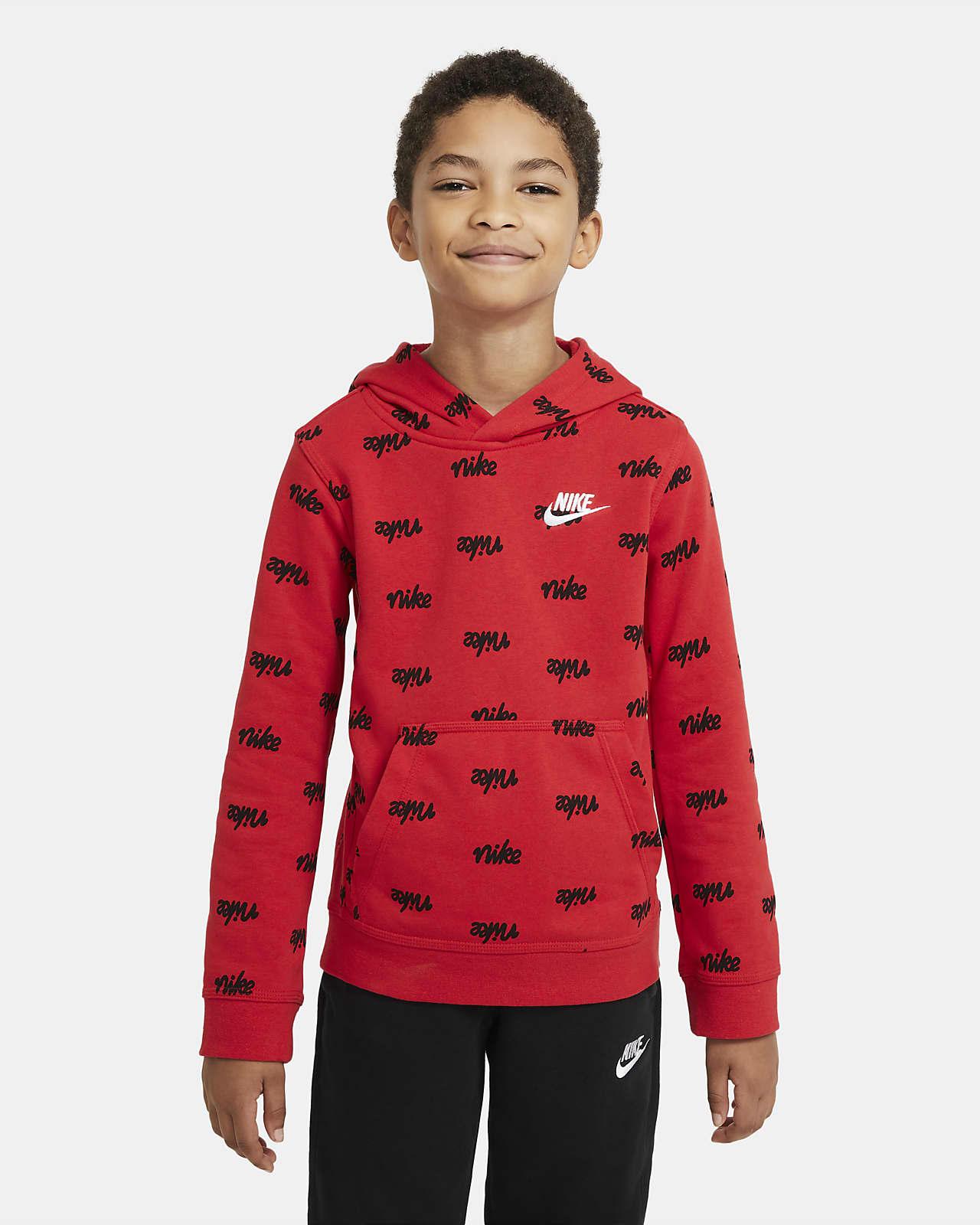 Sudadera con capucha sin cierre estampada para niño talla grande Nike Sportswear