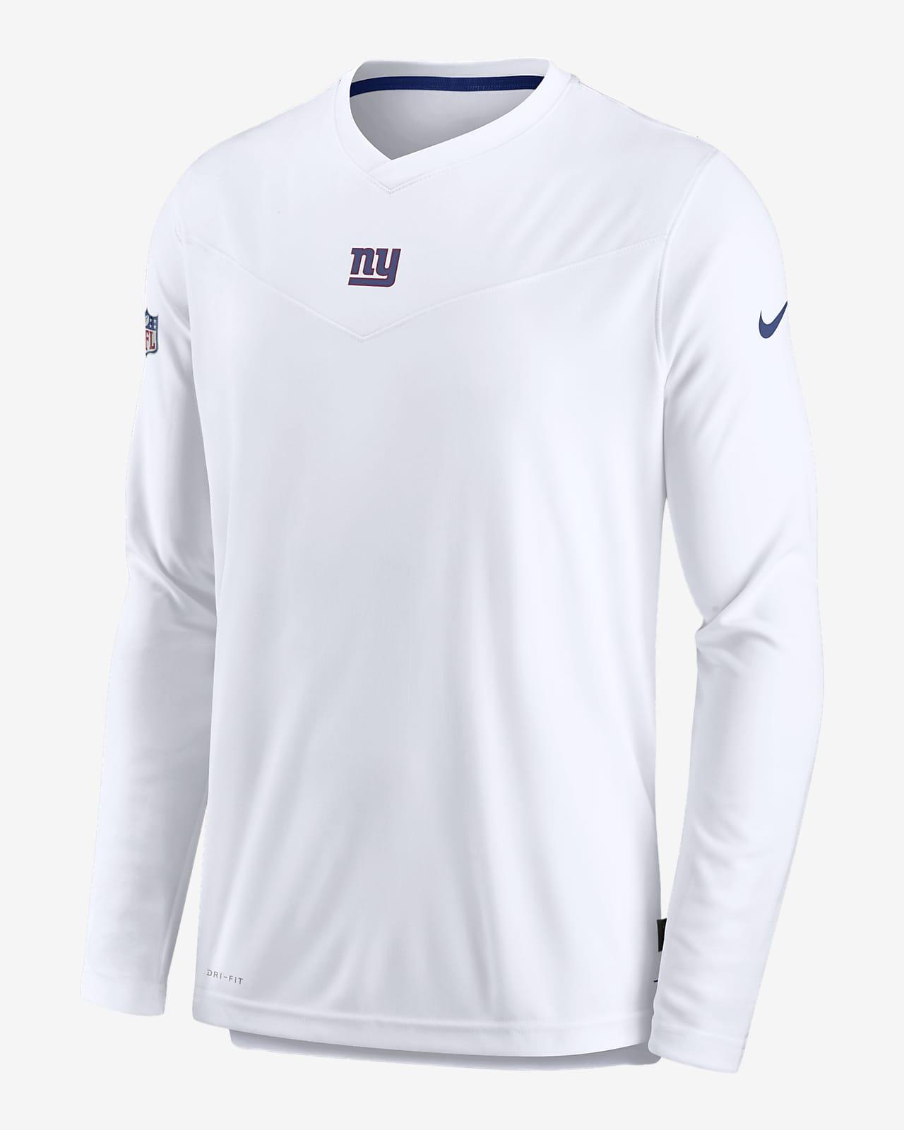 Nike Dri-FIT Sideline Coaches (NFL New York Giants) Men's Long-Sleeve V-Neck T-Shirt