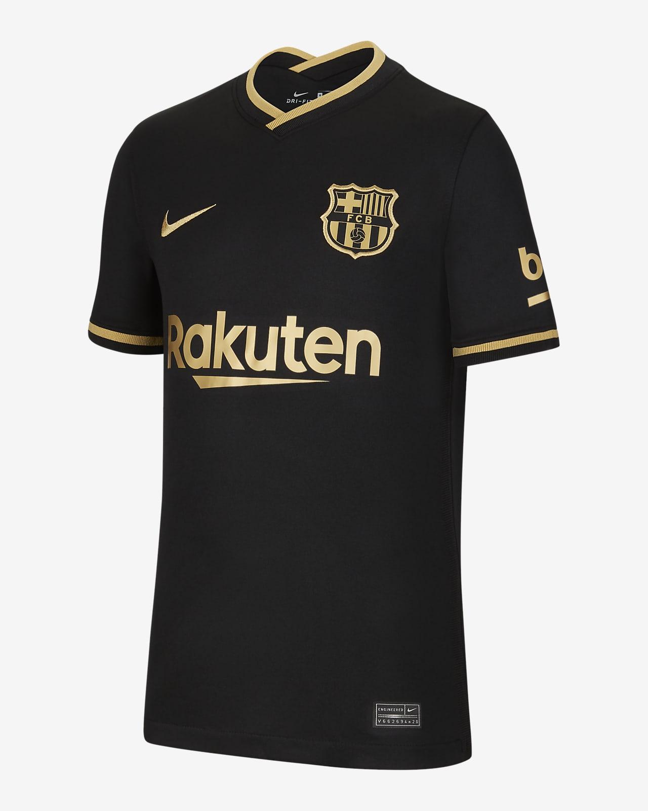 Camiseta de fútbol de visitante para niños talla grande Stadium del FC Barcelona 2020/21