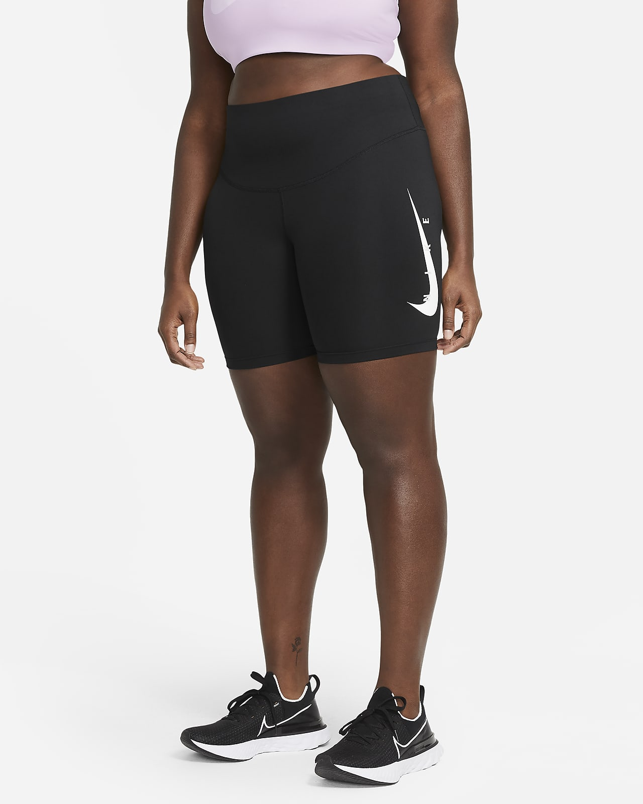 Legging de running Nike Swoosh Run 18 cm pour Femme (grande taille)