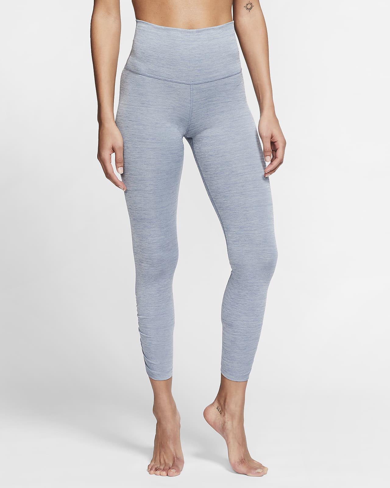 Tights increspati a 7/8 Nike Yoga - Donna