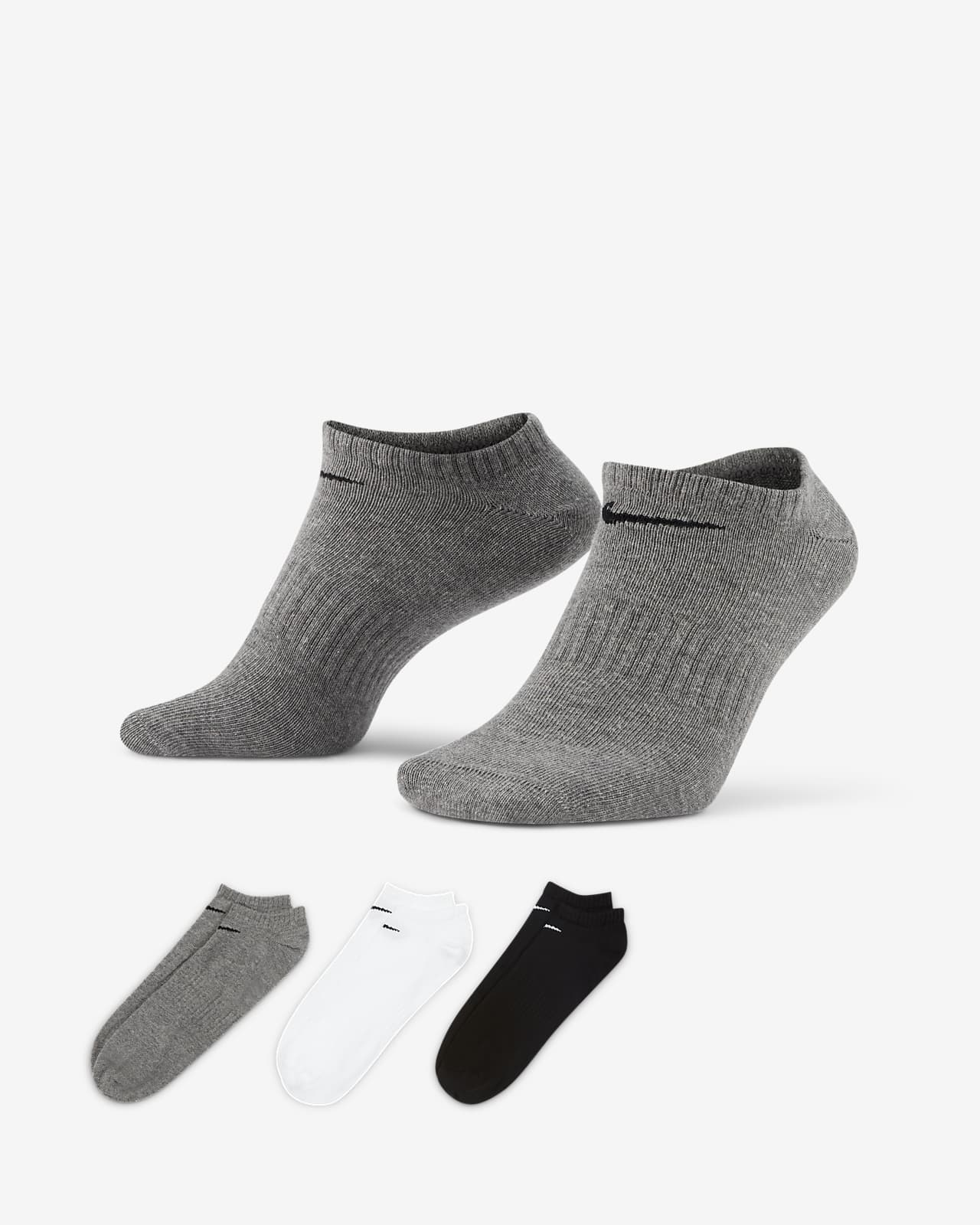 Chaussettes de training invisibles Nike Everyday Lightweight (3 paires)