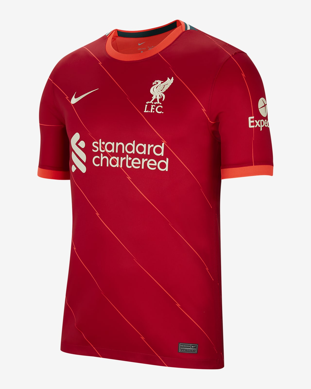 Camisola de futebol do equipamento principal Stadium Liverpool FC 2021/22 para homem