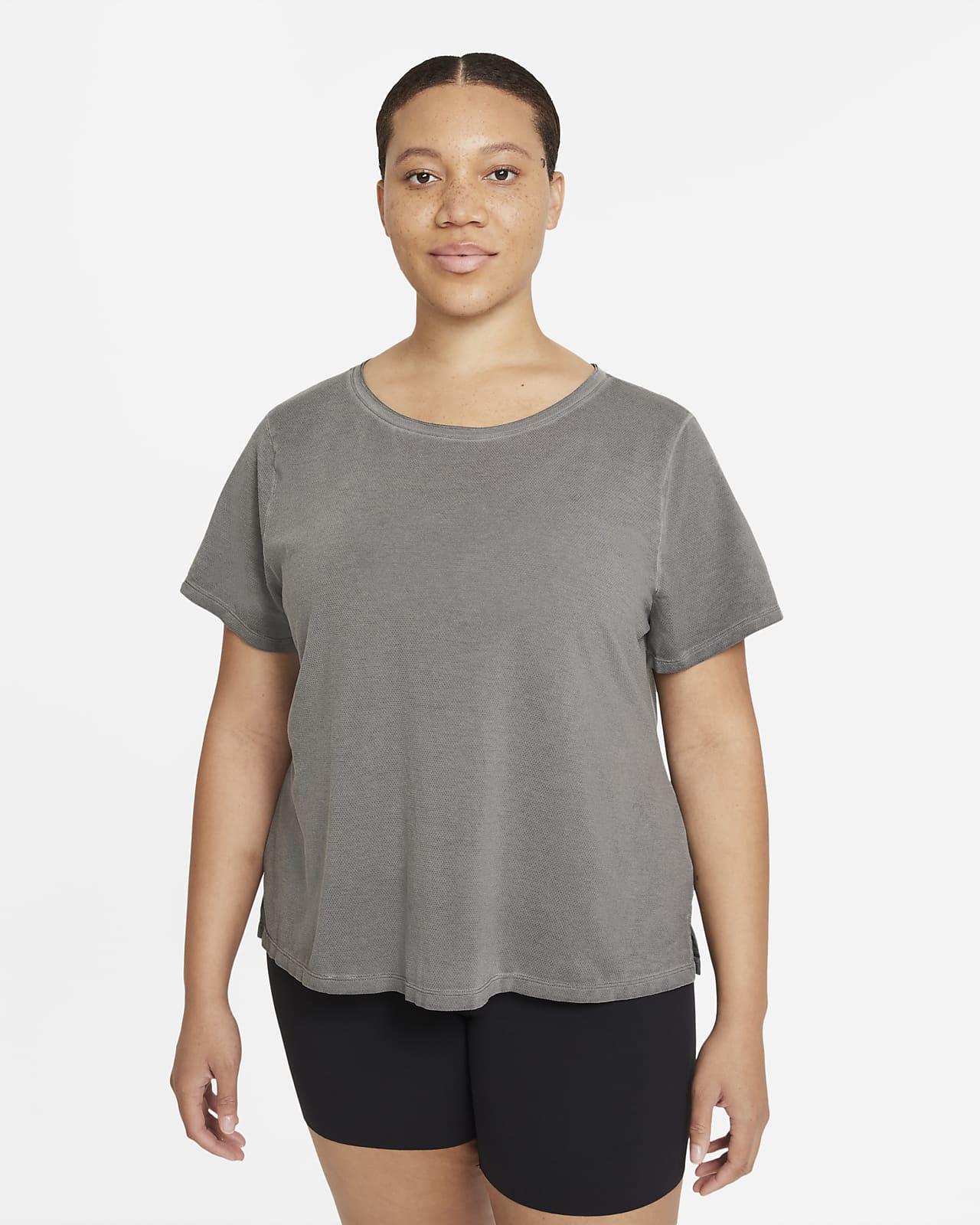 Nike Yoga Dri-FIT Women's Short-Sleeve Top (Plus Size)
