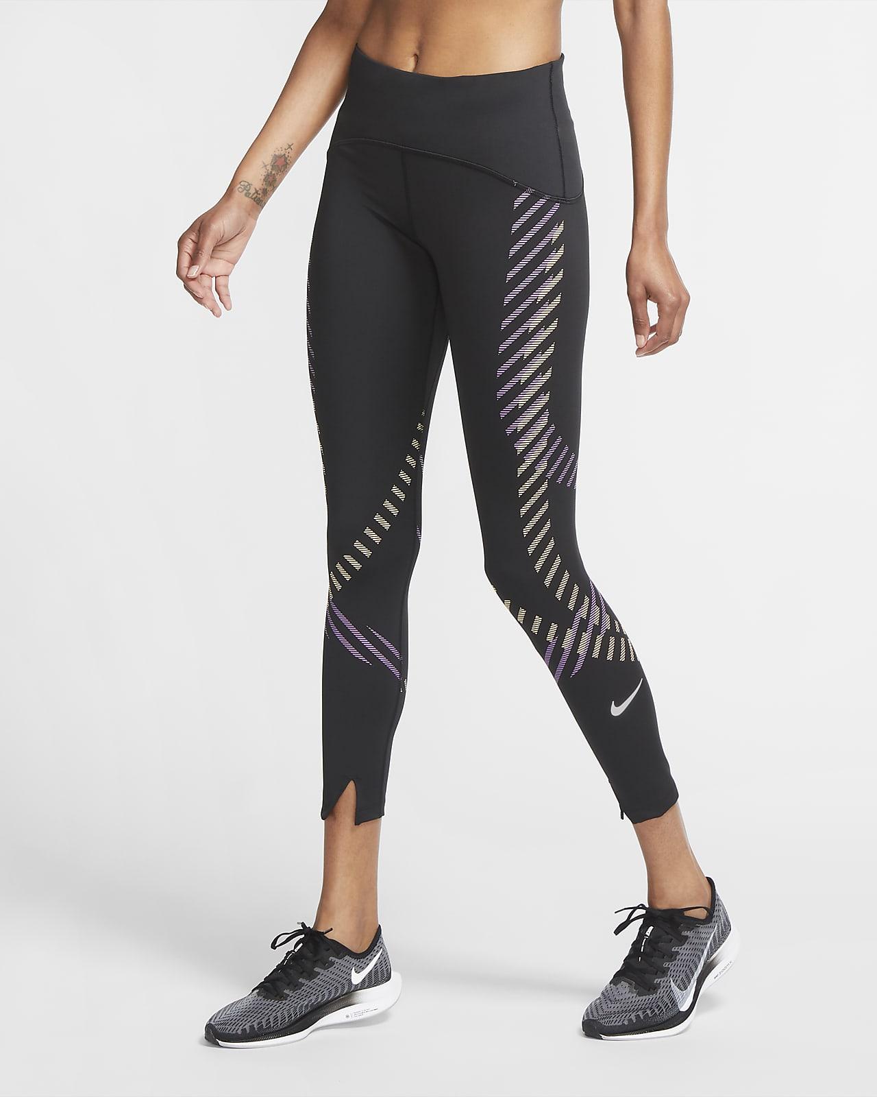 Nike Speed Women's Mid-Rise 7/8 Graphic Running Leggings