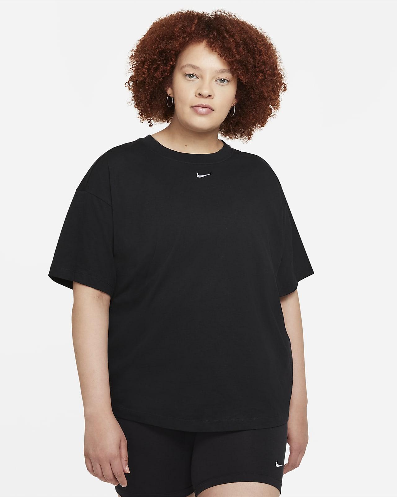 Haut à manches courtes oversize Nike Sportswear Essential pour Femme (grande taille)
