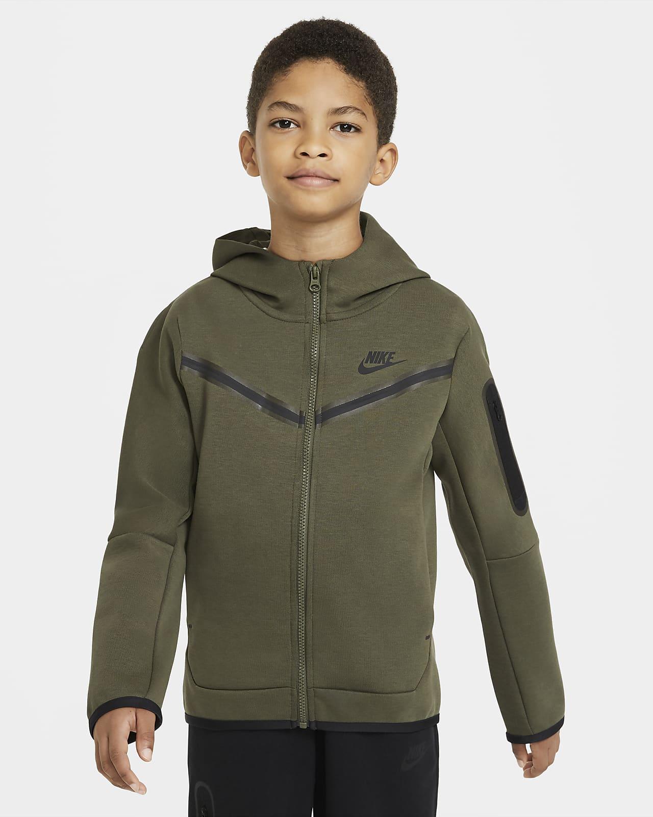 Rozpinana bluza z kapturem dla dużych dzieci (chłopców) Nike Sportswear Tech Fleece