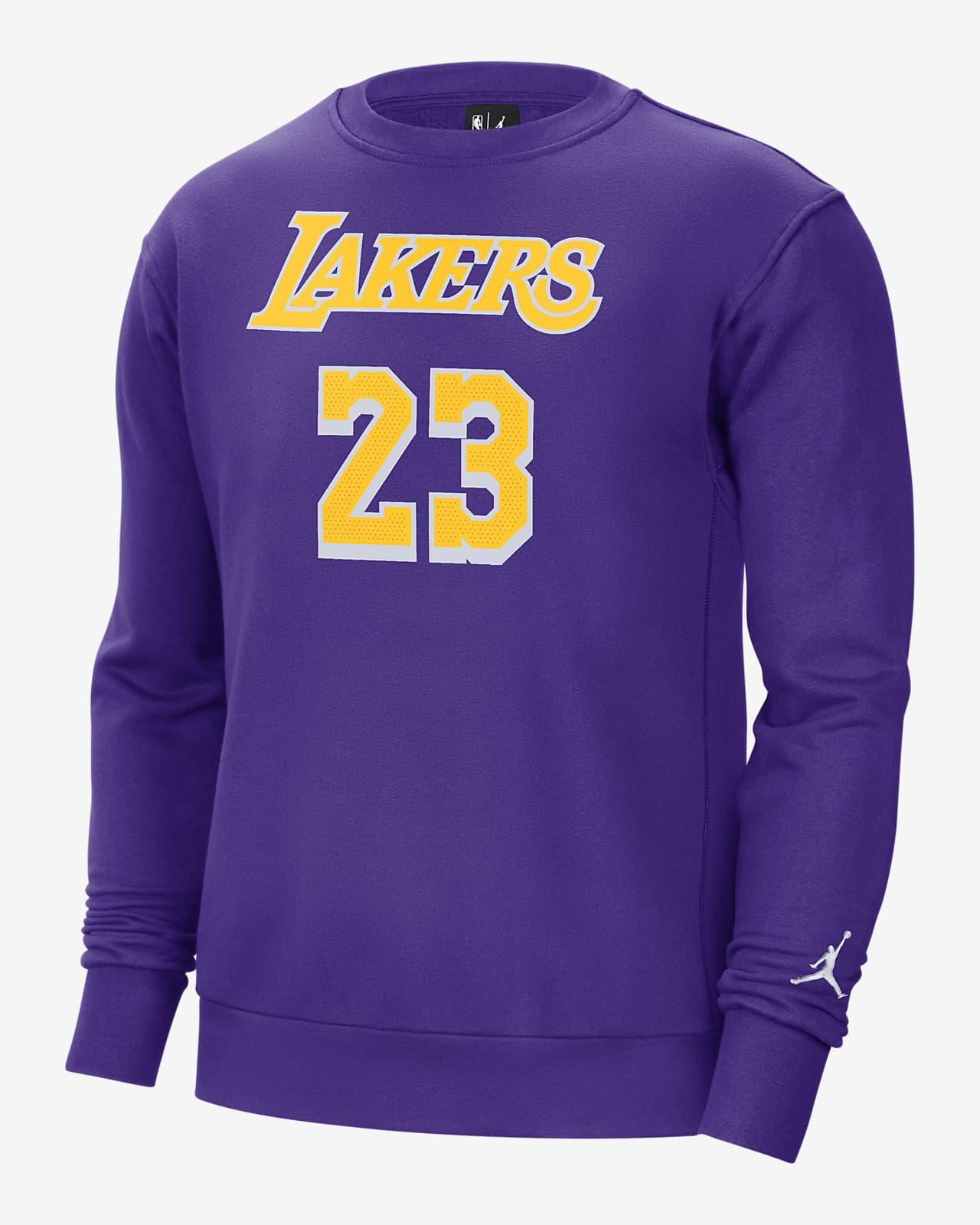 洛杉矶湖人队 Statement Edition Jordan NBA 男子起绒圆领上衣