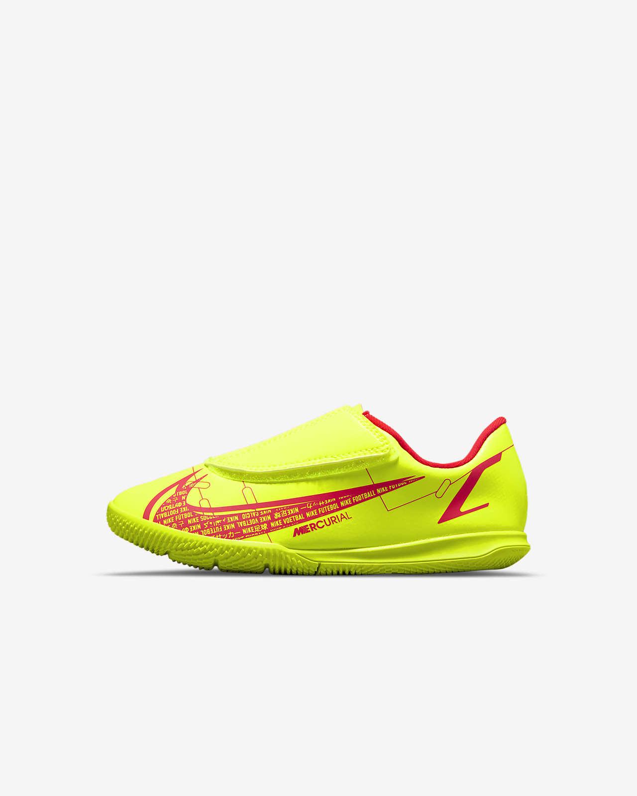 Calzado de fútbol para cancha cubierta para niños talla pequeña Nike Jr. Mercurial Vapor 14 Club IC