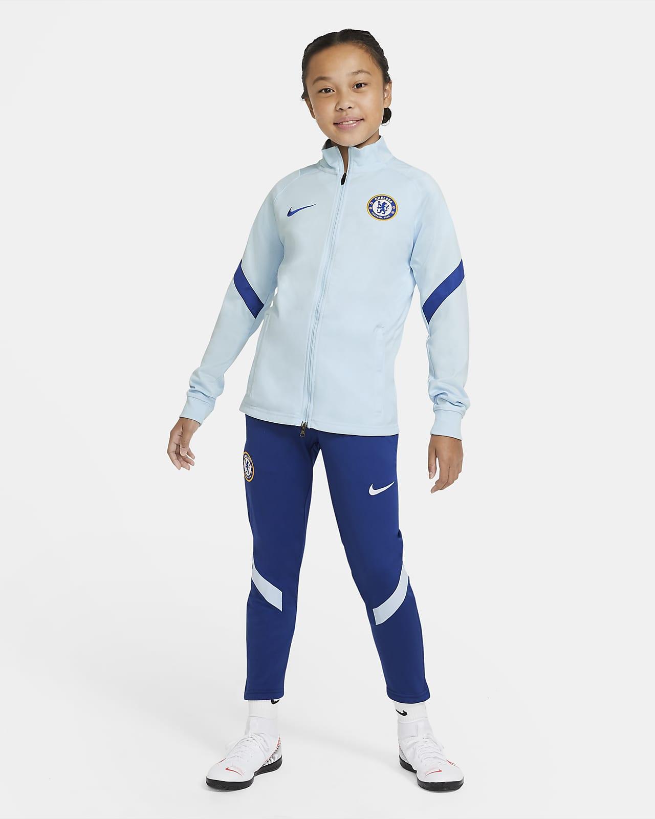 Conjunto de entrenamiento de fútbol para niños talla grande Chelsea FC Strike