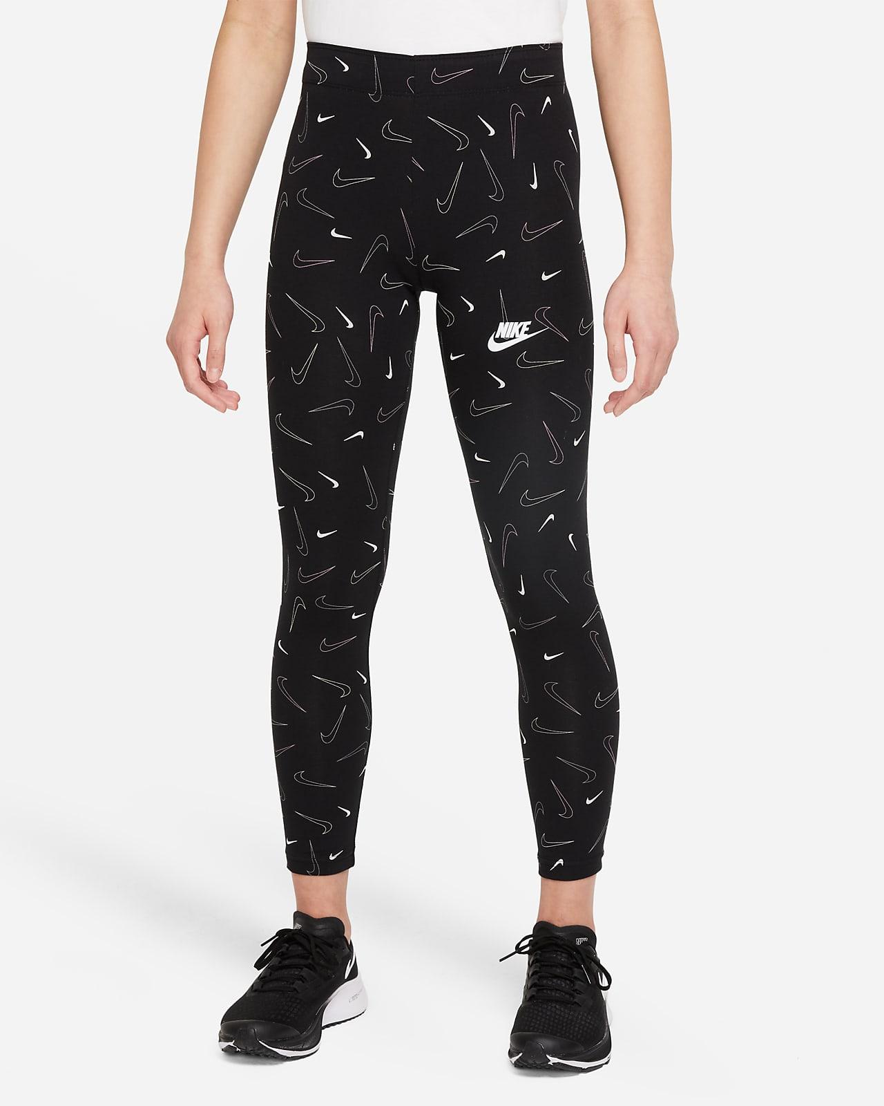 เลกกิ้งพิมพ์ลายเด็กโต Nike Sportswear Favorites (หญิง)