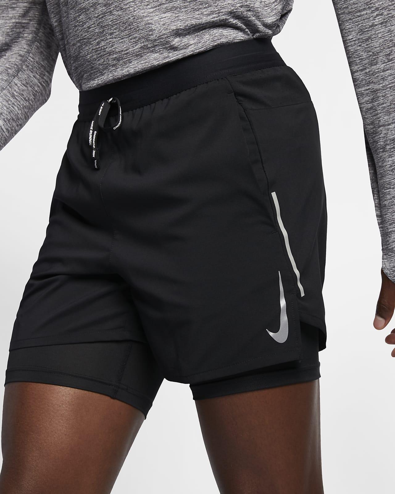 กางเกงวิ่งขาสั้น 5 นิ้ว 2-in-1 ผู้ชาย Nike Flex Stride