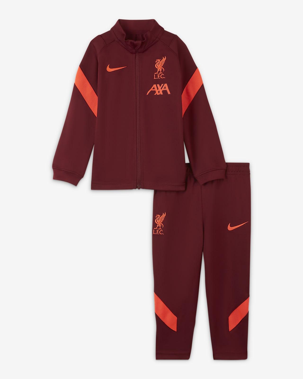 Liverpool FC Strike kötött futballtréningruha babáknak