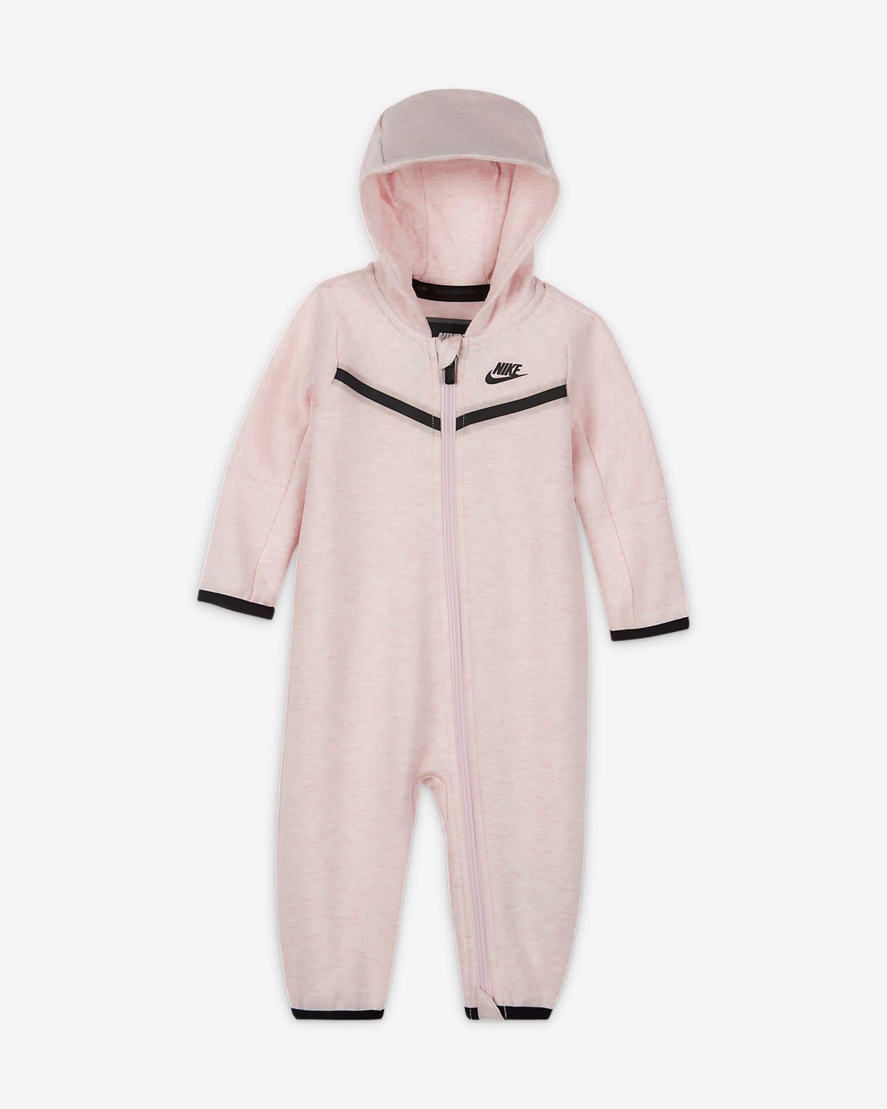 Nike Sportswear Tech Fleece-heldragt med lynlås til babyer (0-9 M)