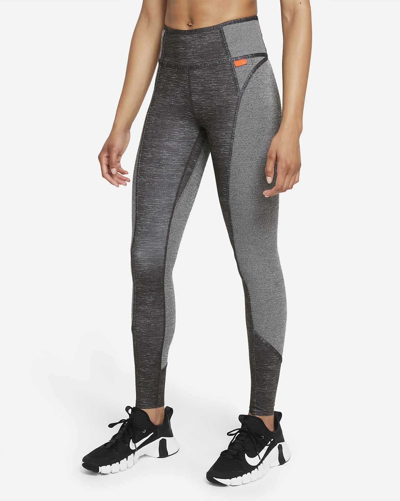 Legging chiné taille mi-basse Nike Dri-FIT One Luxe pour Femme