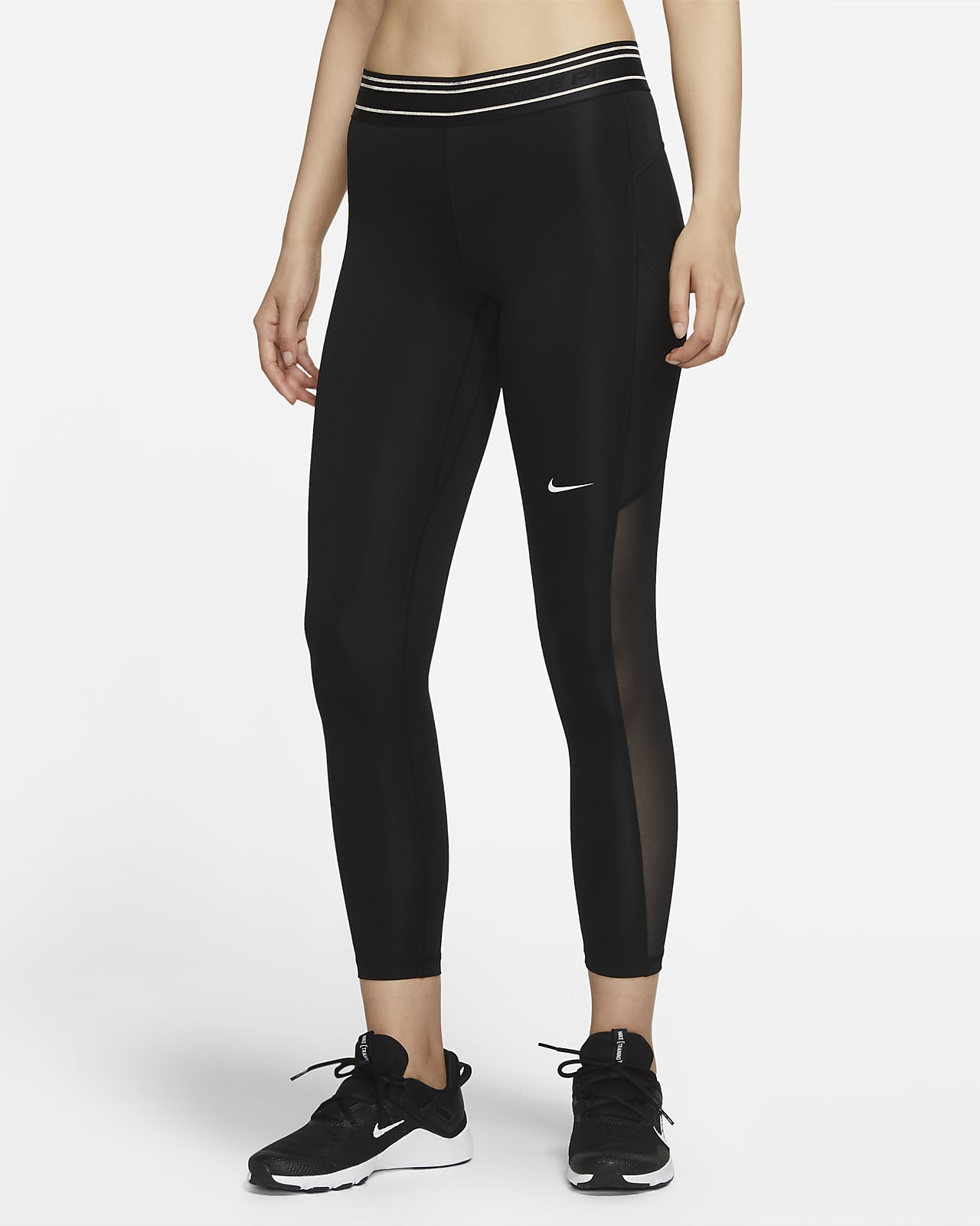 Nike Pro Dri-FIT 女子中腰训练紧身裤
