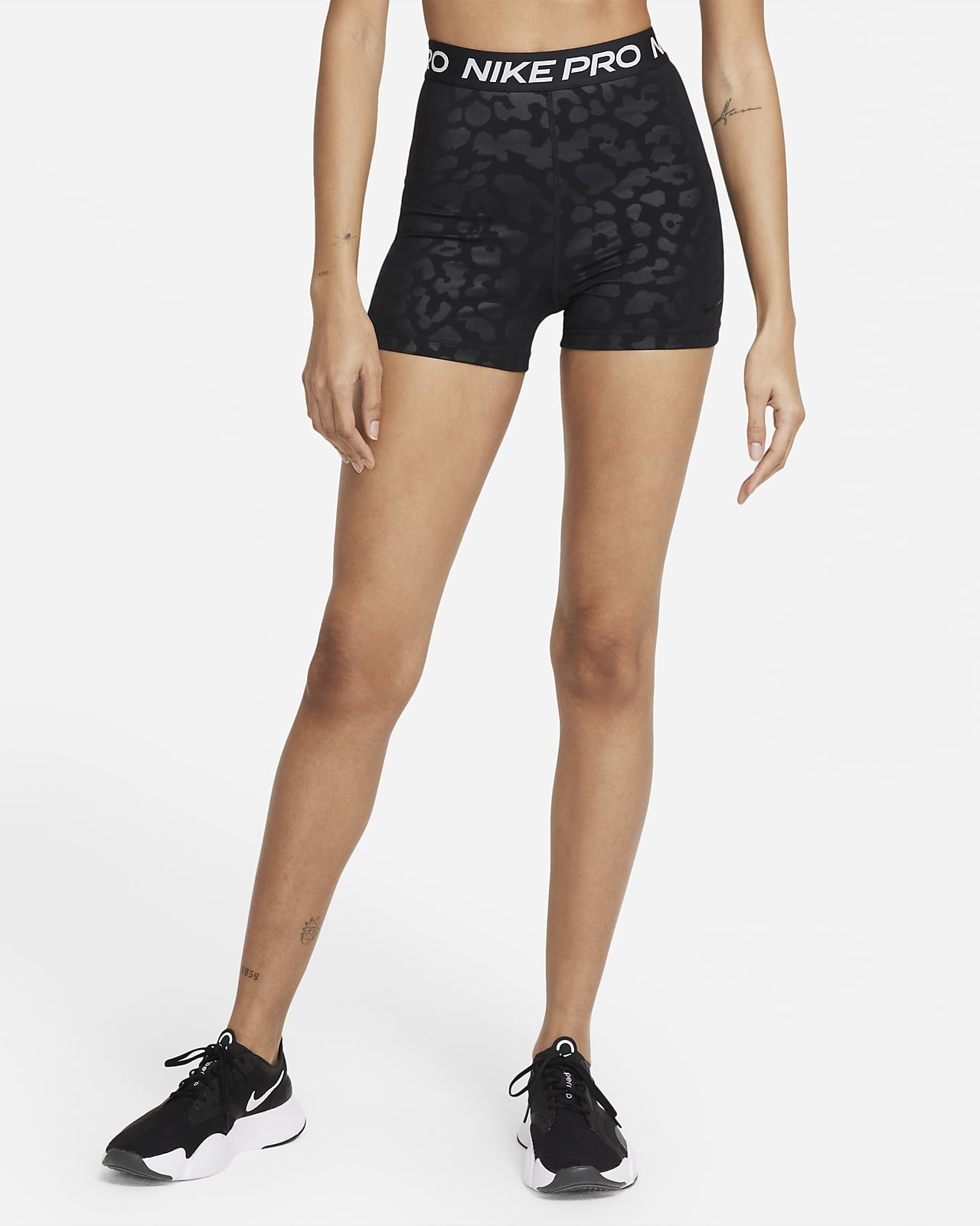 Nike Pro Dri-FIT Women's High-Waisted 8cm (approx.) Printed Shorts