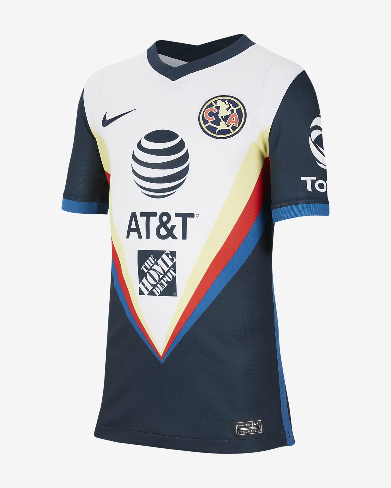 Club América 2020/21 Stadium Away Big Kids' Soccer Jersey