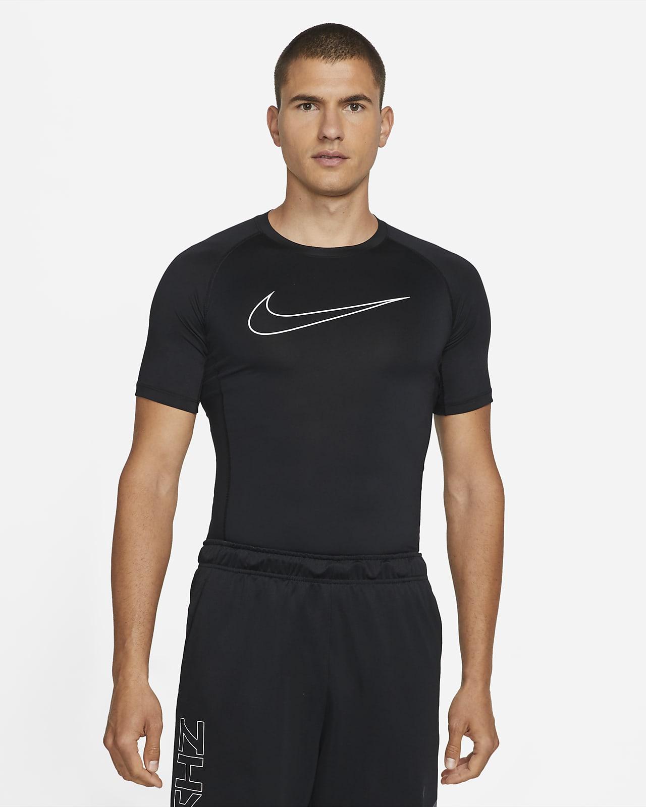 Playera para la parte superior de manga corta con ajuste ceñido para hombre Nike Pro Dri-FIT