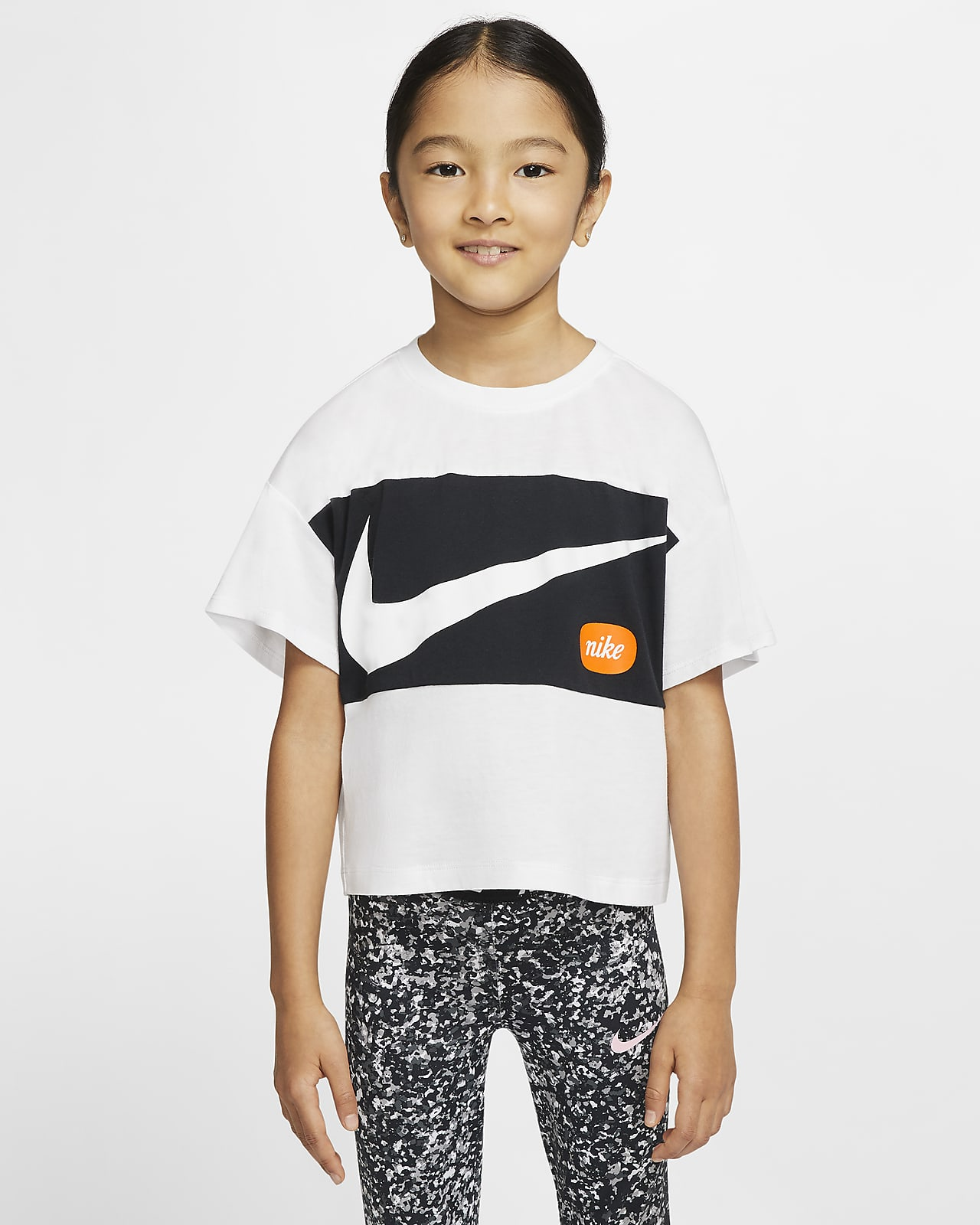 Nike Younger Kids' Cropped Short-Sleeve Top