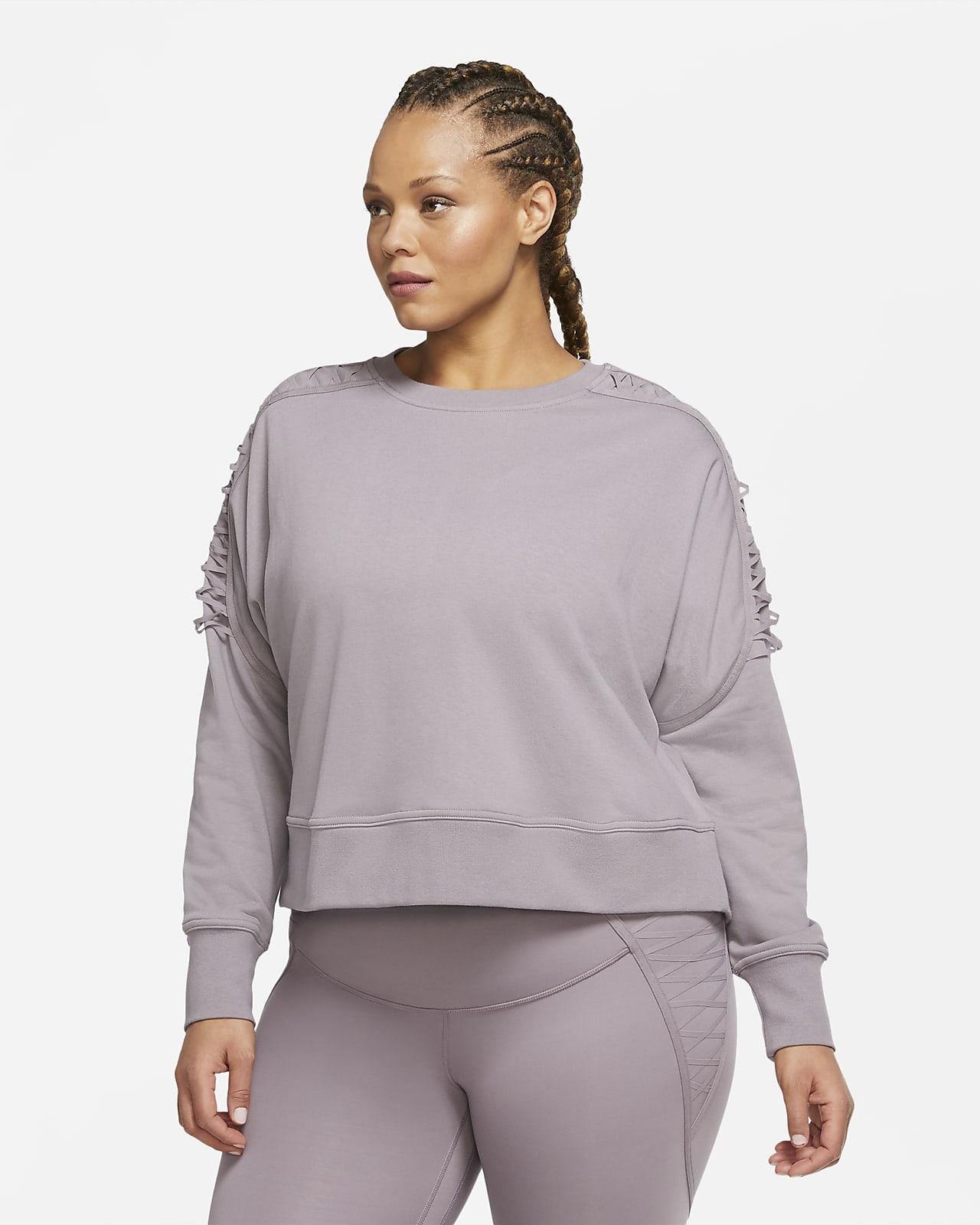 Damska dzianinowa bluza treningowa o skróconym kroju ze sznurowaniem Nike Therma (duże rozmiary)