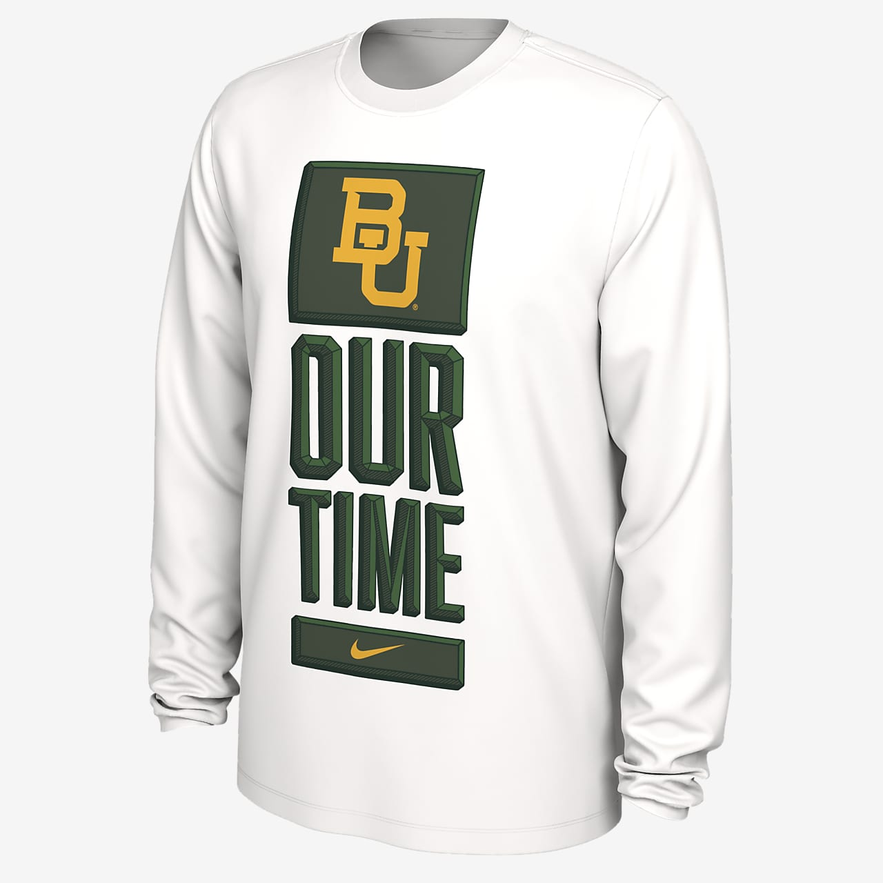 Nike College Dri-FIT (Baylor) Men's Long-Sleeve T-Shirt
