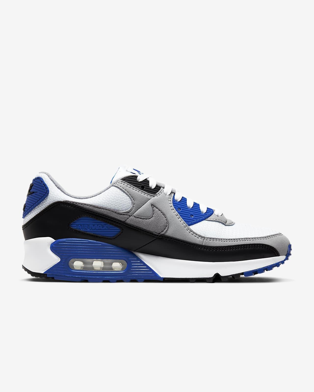 air max 90 on feet blue
