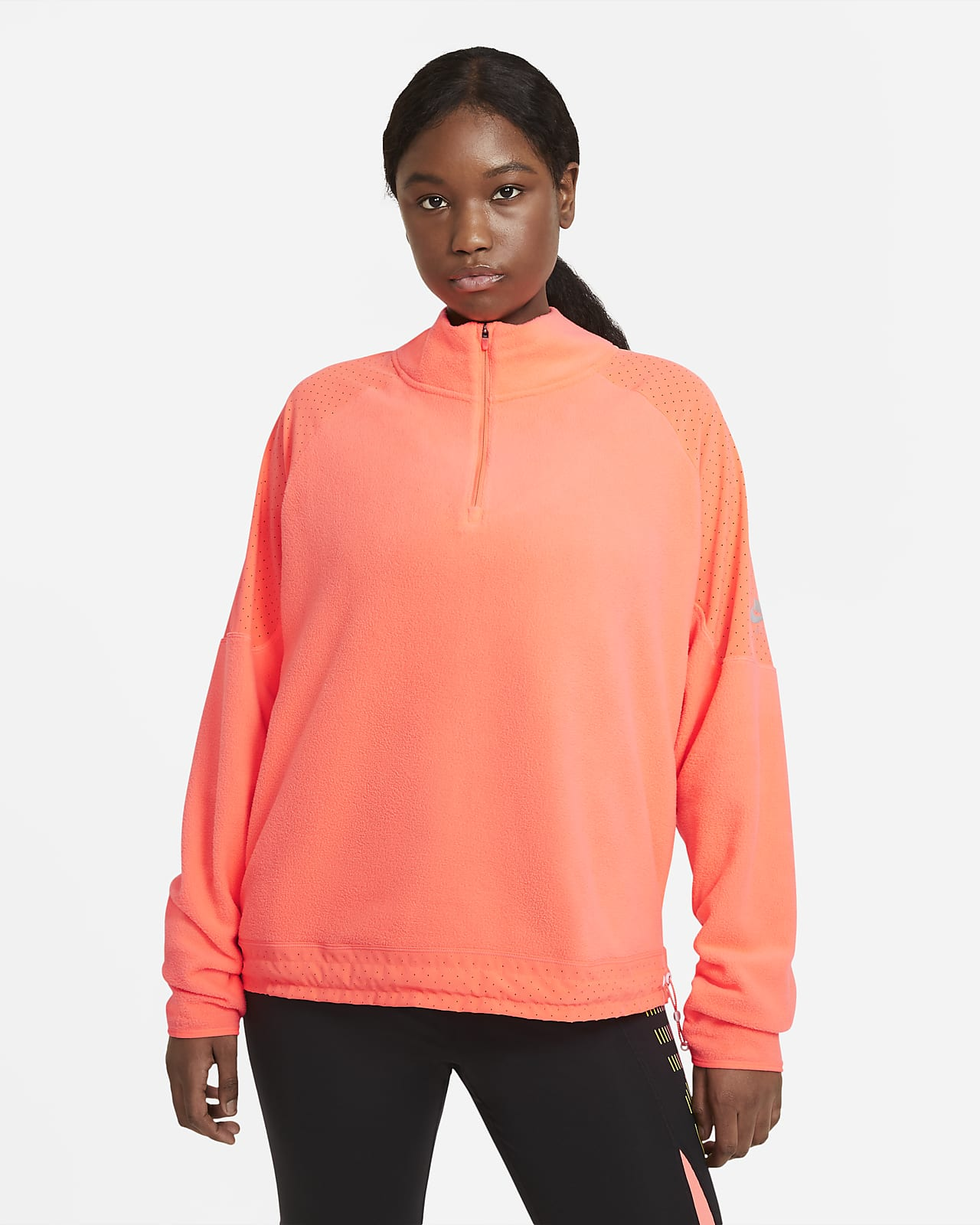 Γυναικεία μπλούζα για τρέξιμο Nike Air Midlayer (μεγάλα μεγέθη)