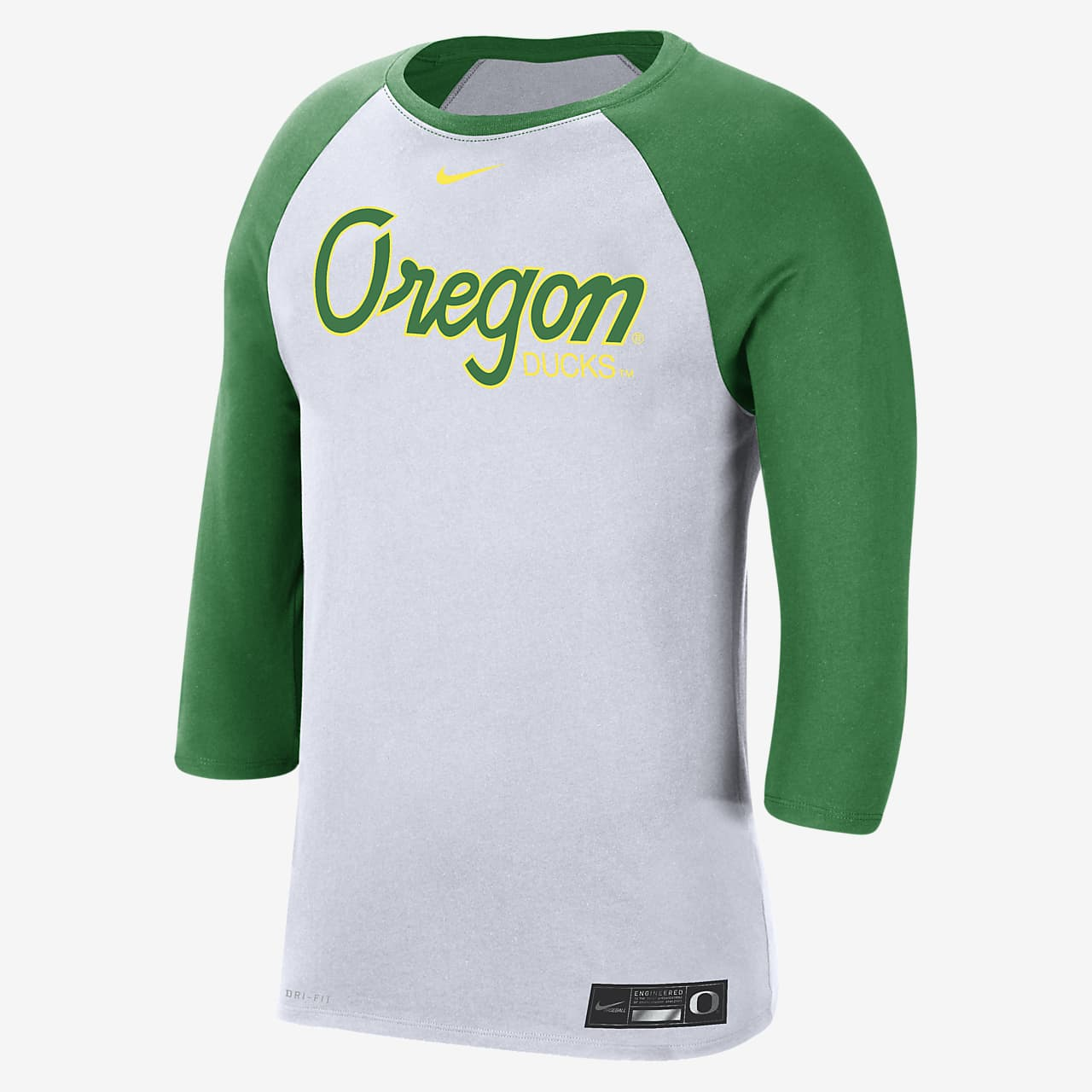 Nike College Dri-FIT (Oregon) Men's 3/4-Sleeve T-Shirt