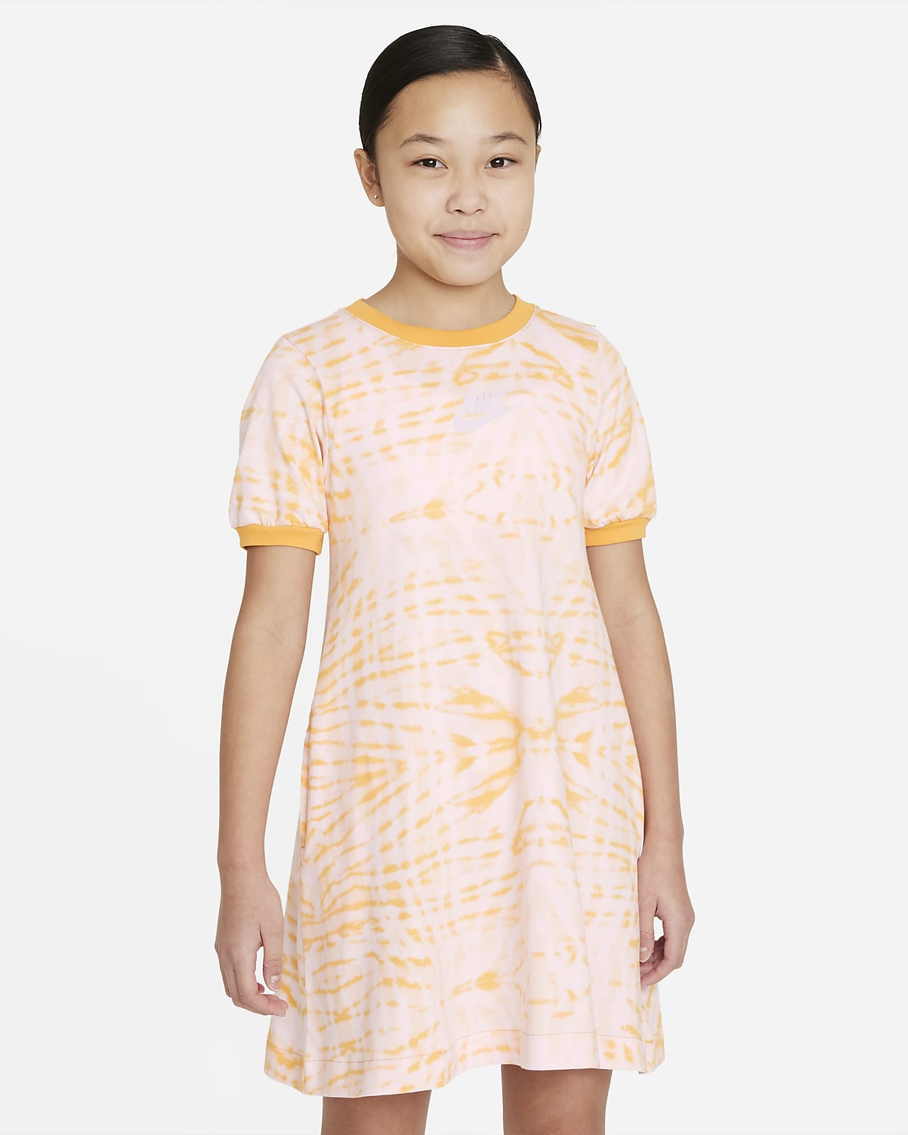 Mönstrad kortärmad klänning Nike Sportswear för tjejer