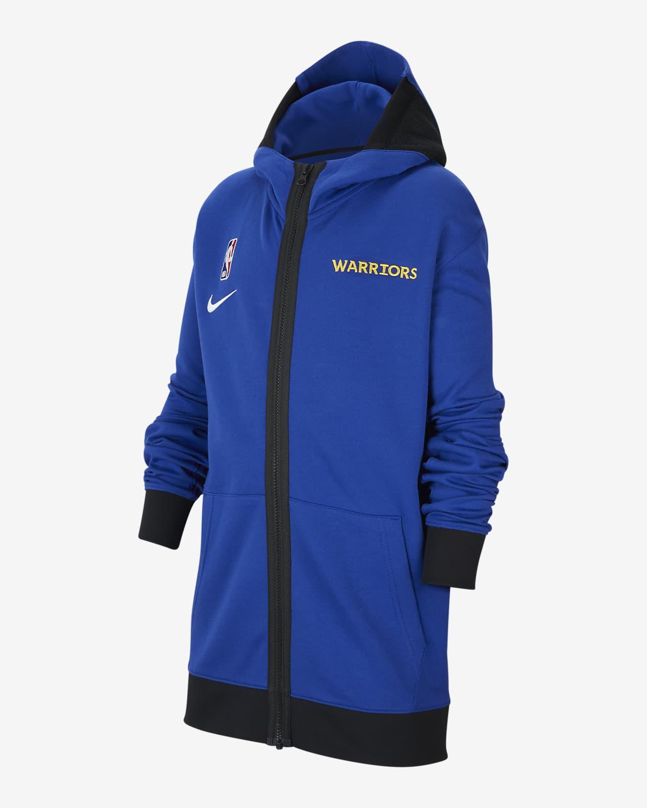 Bluza z kapturem dla dużych dzieci NBA Nike Therma Flex Golden State Warriors Showtime