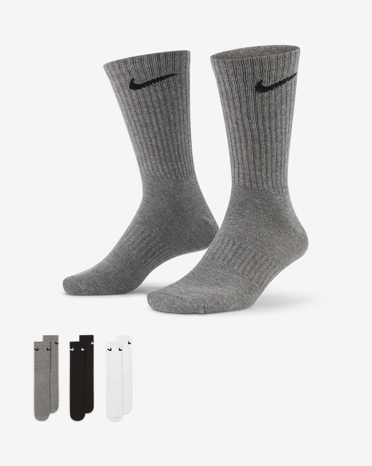 Κάλτσες προπόνησης μεσαίου ύψους Nike Everyday Lightweight (3 ζευγάρια)