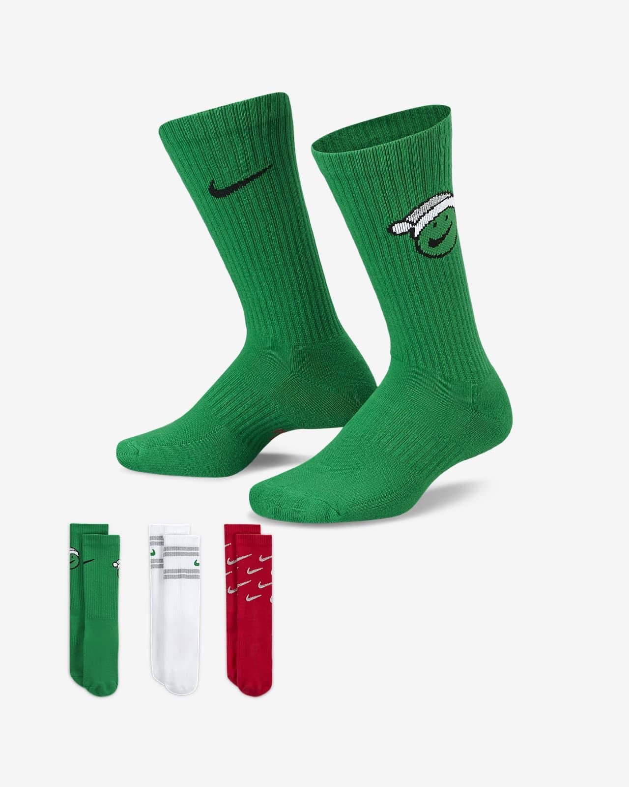 Nike Everyday gepolsterte Crew-Kindersocken (3 Paar)