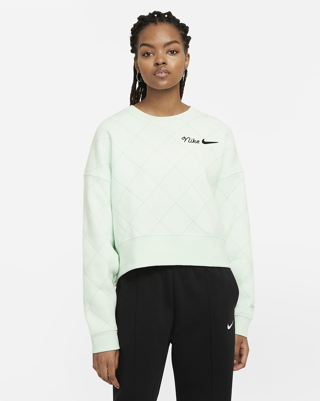 Sudadera de cuello redondo de tejido Fleece para mujer Nike Sportswear