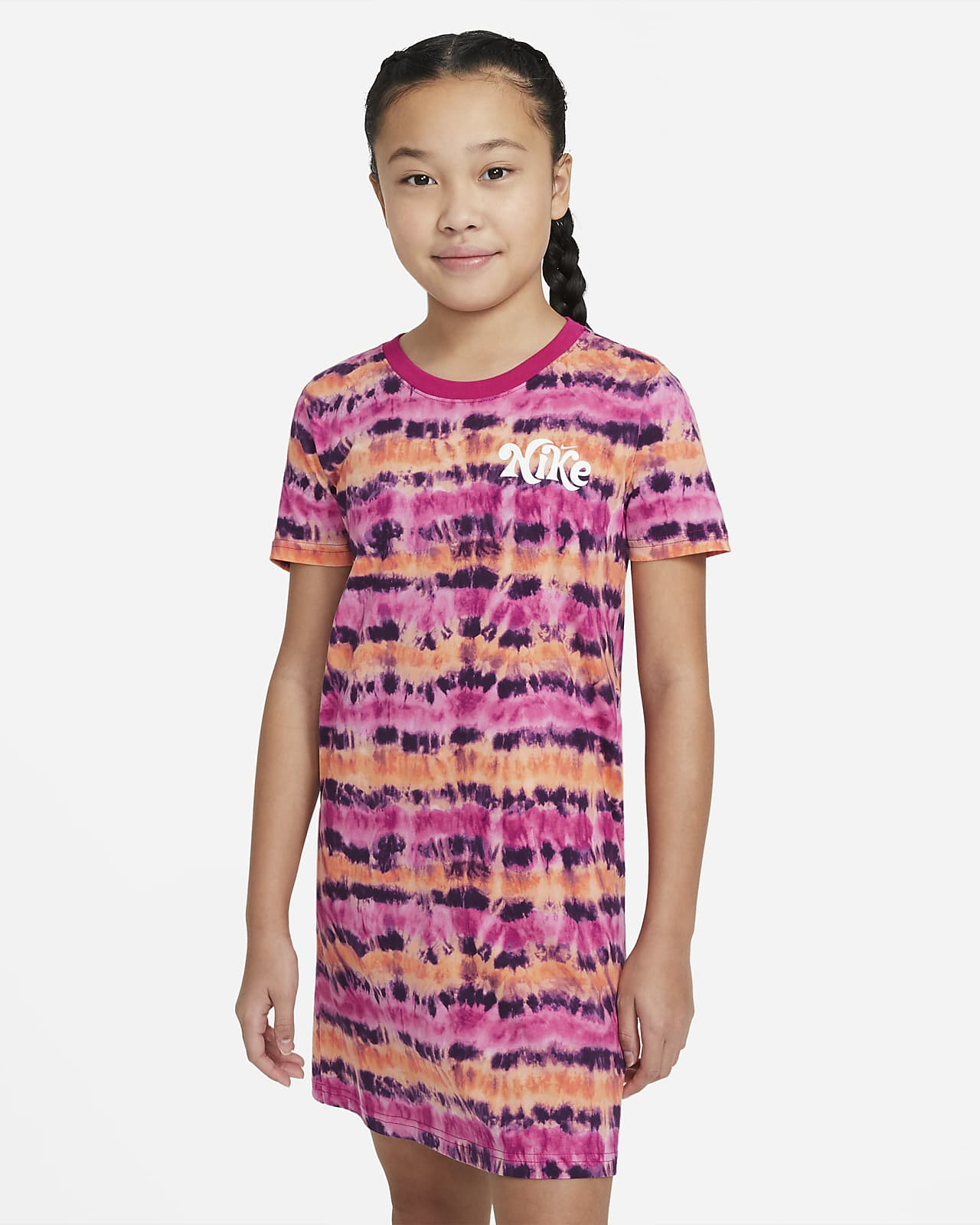 Nike Sportswear Big Kids' (Girls') Tie-Dye T-Shirt Dress