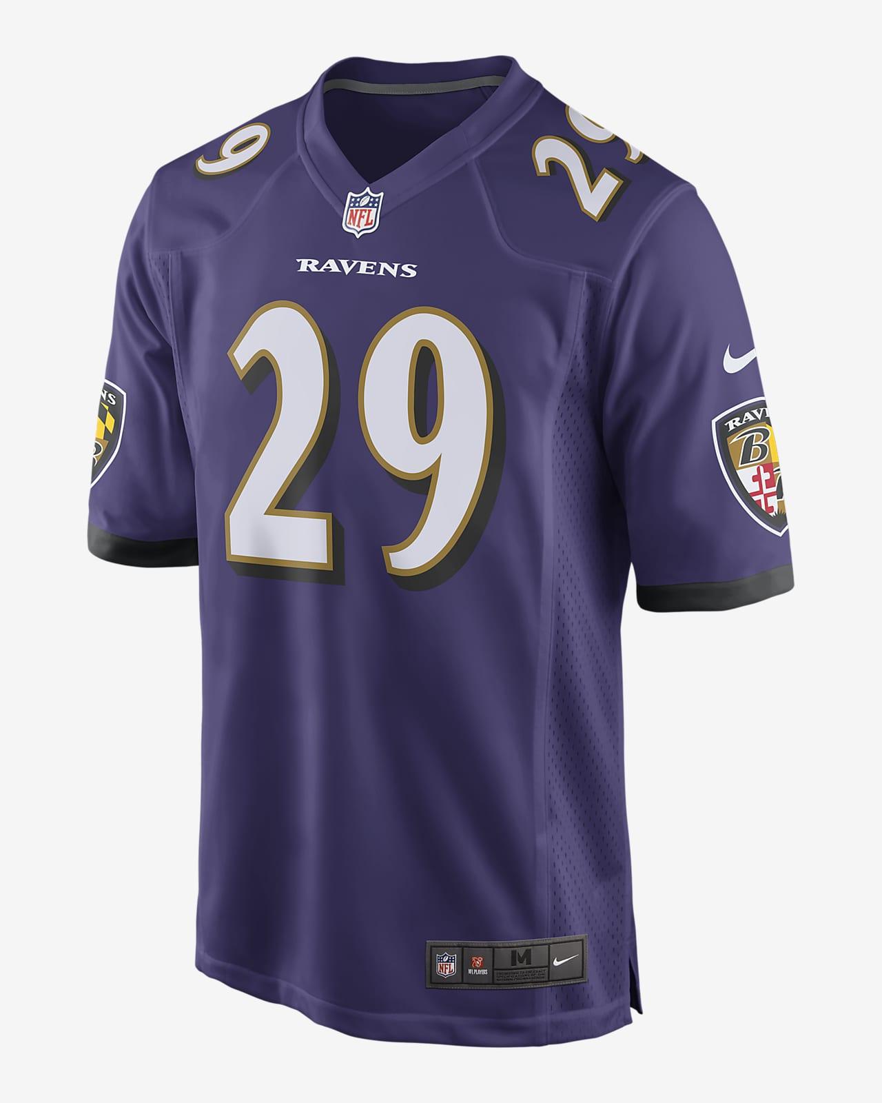 NFL Baltimore Ravens (Earl Thomas Iii) Men's Game Football Jersey